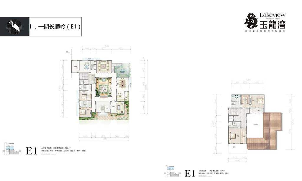 俊发玉龙湾E1户型(2)4房5厅7卫