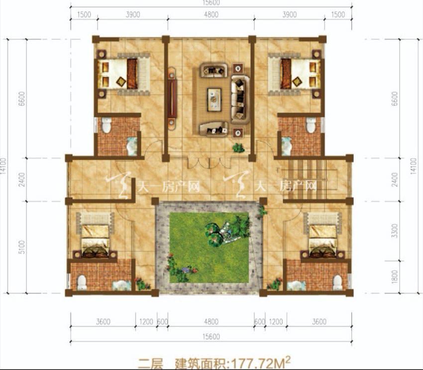 东方玫瑰谷二层-四房两厅两卫-177.72平米.jpg