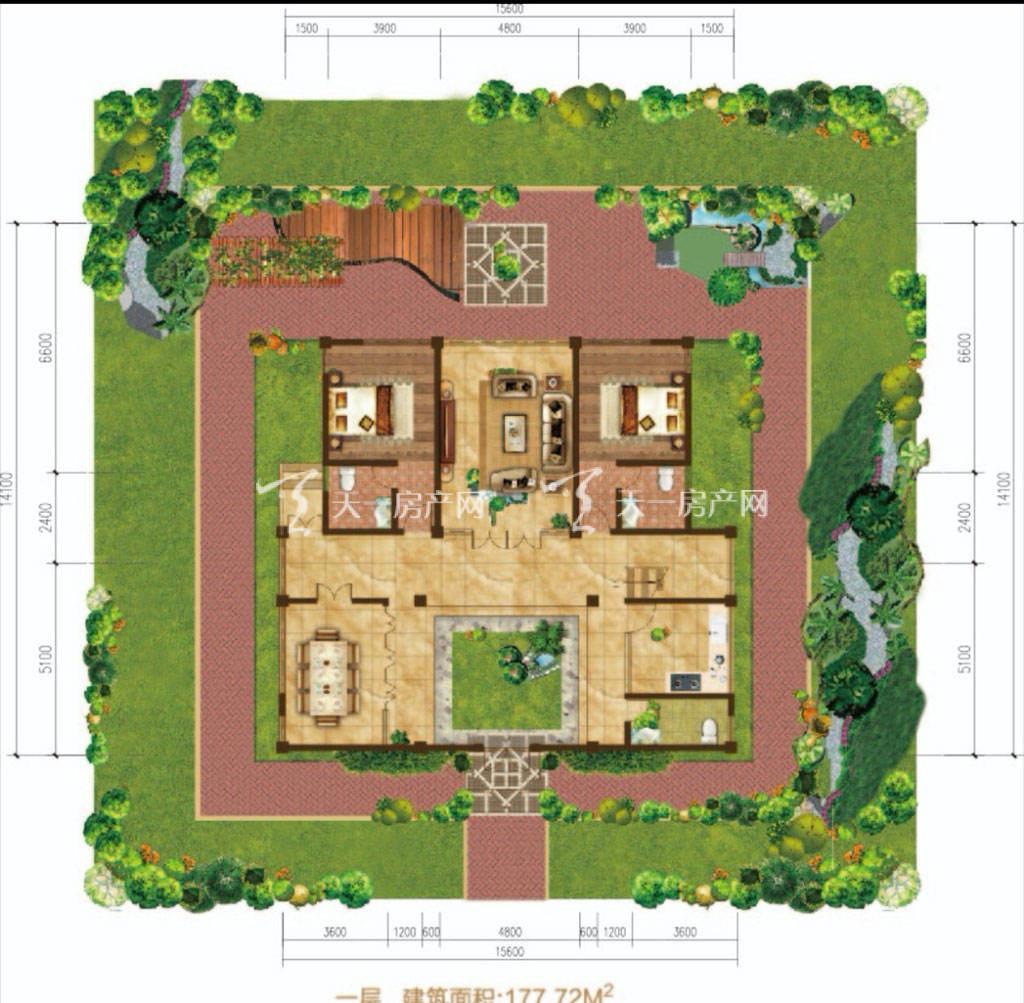 东方玫瑰谷一层-两房两厅两卫-177.72平米.jpg