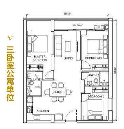 The peak三卧室公寓单元.jpg