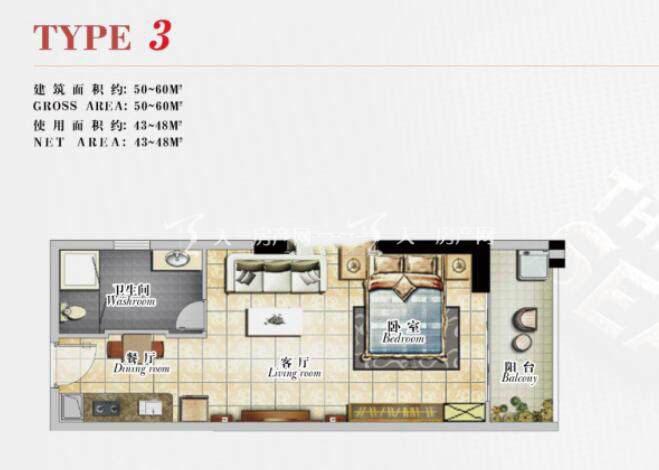 泰荣西港城1室2厅1卫建筑面积50-60㎡.jpg