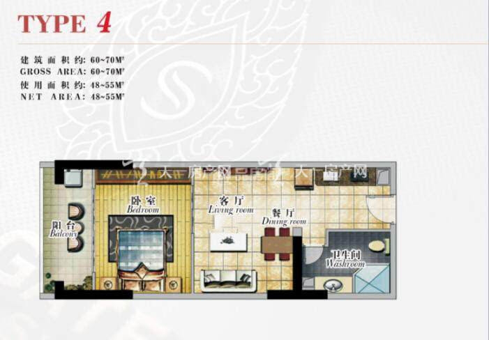 泰荣西港城1室2厅1卫建筑面积60-70㎡.jpg