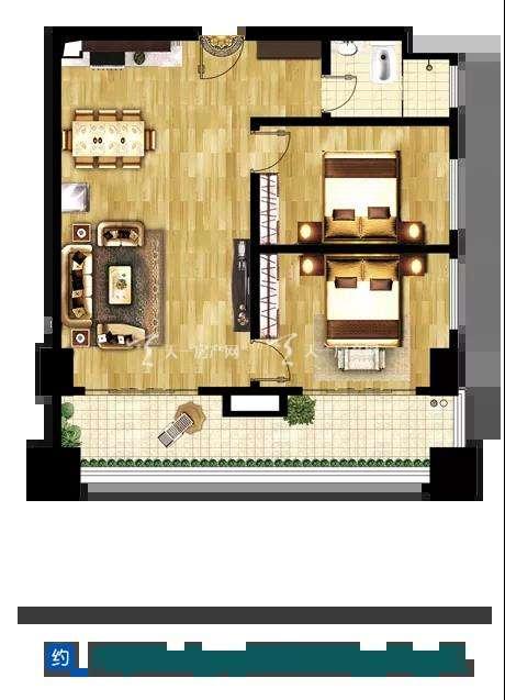 磨丁经济特区两室两厅