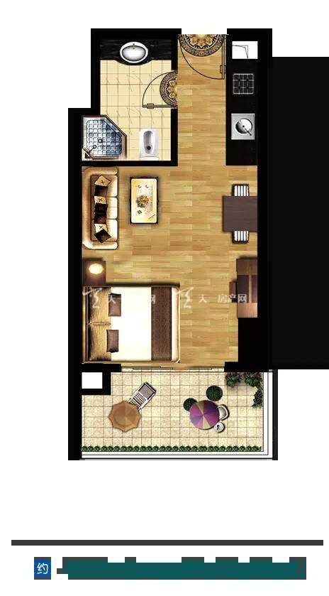 磨丁经济特区一室一厅