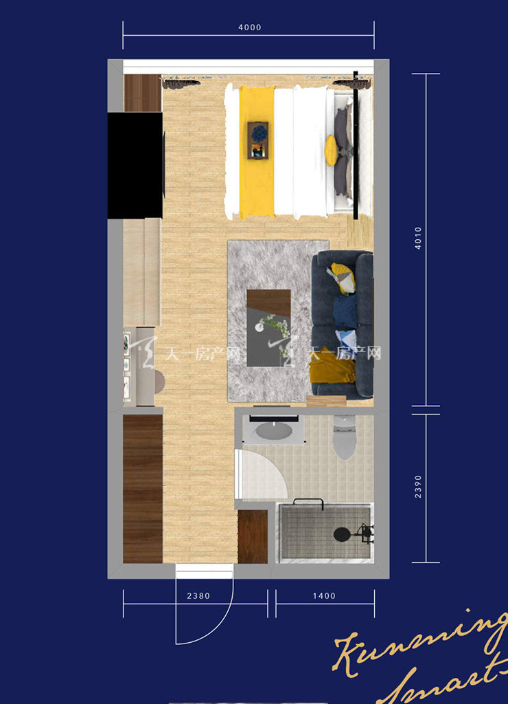 绿地星宸汇1室1厅1卫 建筑面积:51㎡.jpg