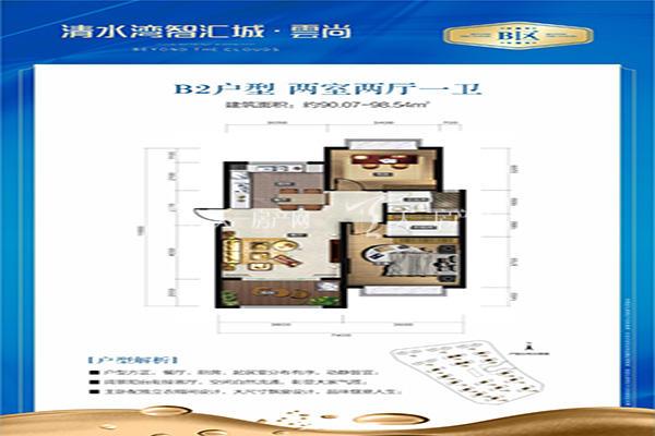 智汇城B2户型 两室两厅一卫 98㎡.jpg