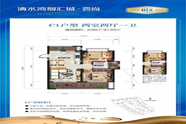 智汇城C1户型 两室两厅一卫 81㎡.jpg