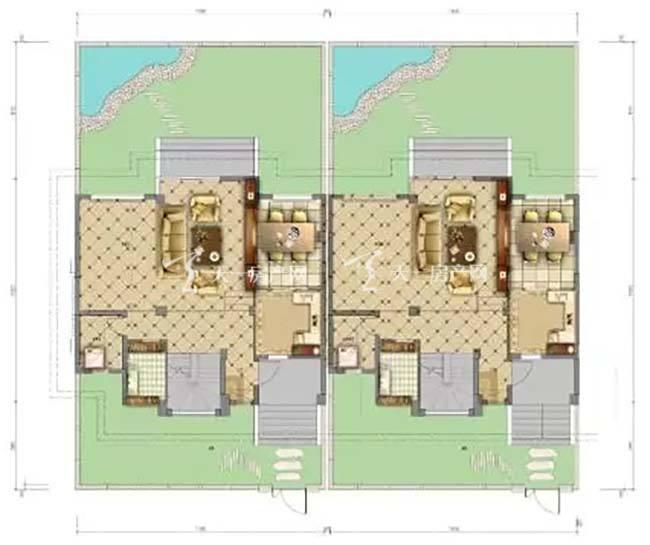 东湖墅H户型 3室2厅2卫 01