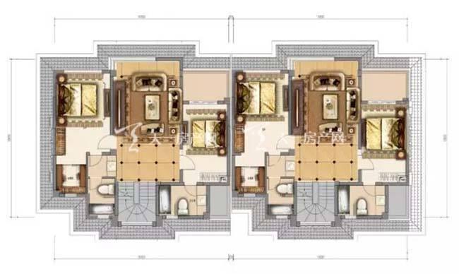 东湖墅H户型 3室2厅2卫 03