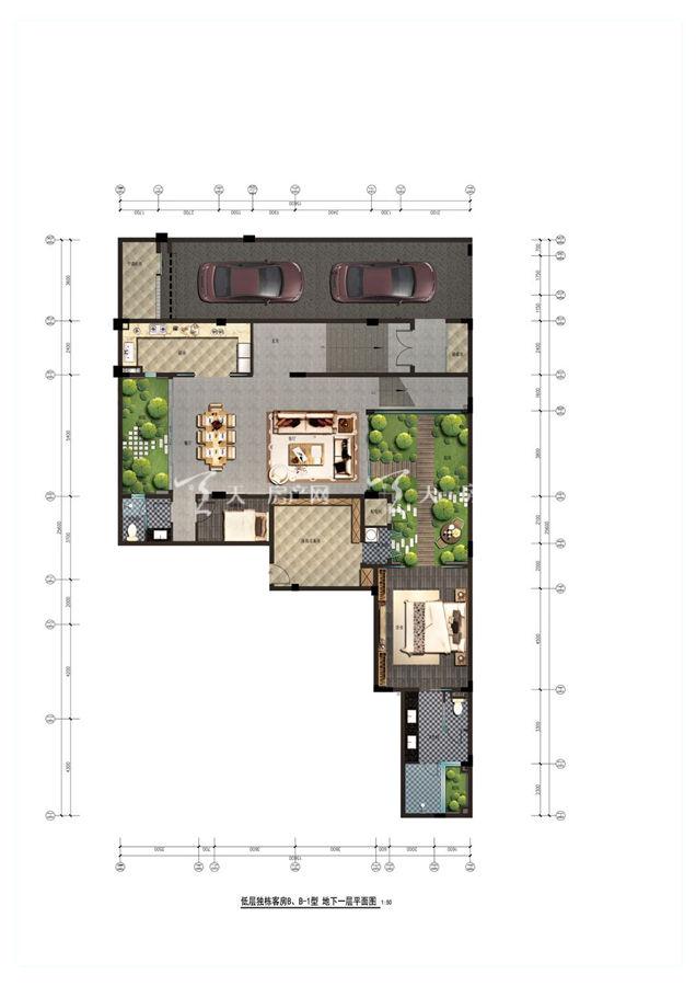 海棠华著B户型4+1房2厅1卫建筑面积122.14㎡