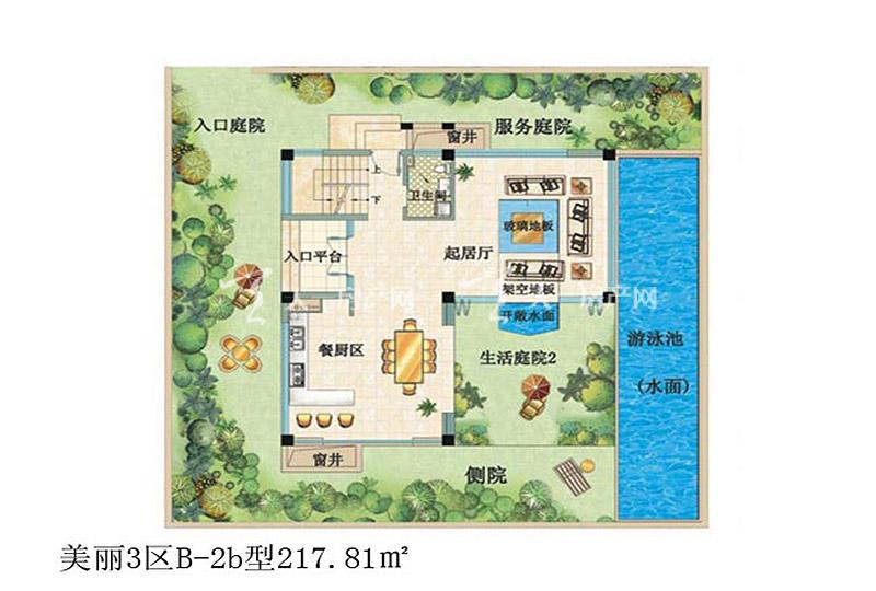 鲁能三亚湾 鲁能三亚湾 户型图 美丽3区B-2b型217.81.jpg