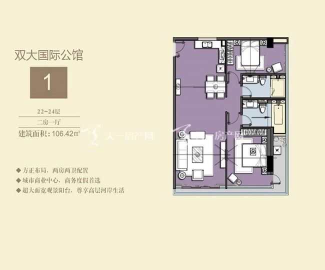 双大国际公馆 1户型22-24层-2房1厅-106.42㎡.jpg