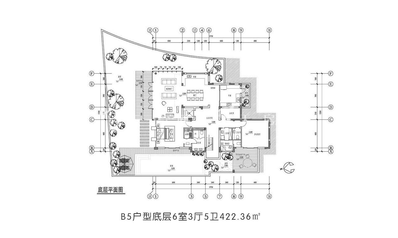 开维国玺二十五院 B5户型底层6室3厅5卫422.36㎡.jpg