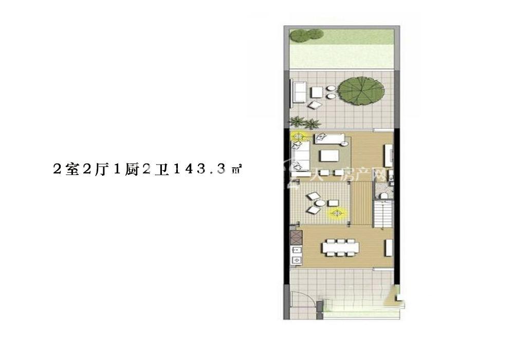 智汇城 2室2厅1厨2卫143.3㎡.jpg