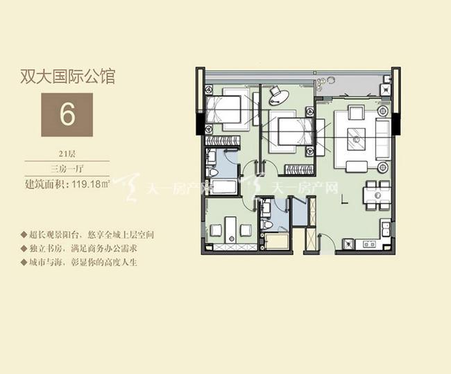 双大国际公馆 6户型21层-3房1厅-119.18㎡.jpg