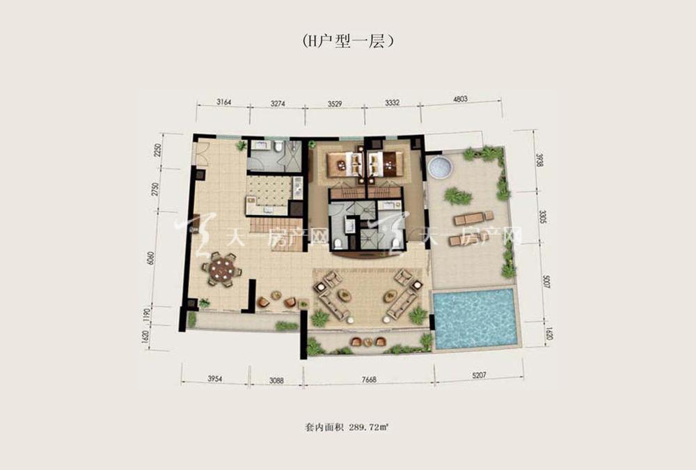 Aloha阿罗哈Aloha阿罗哈海景公寓H户型4室2厅5卫