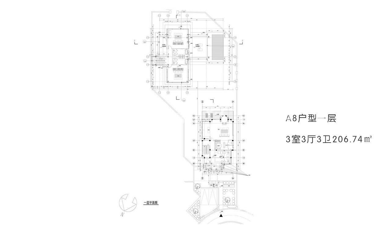 开维国玺二十五院 A8户型一层3室3厅3卫206.74㎡.jpg