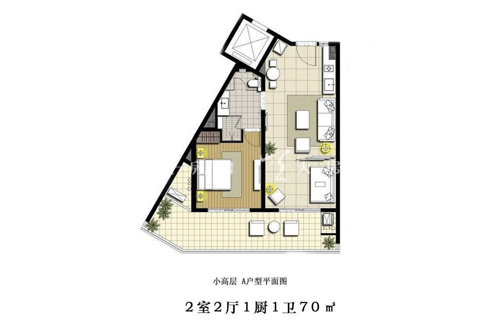 智汇城 2室2厅1厨1卫70㎡.jpg
