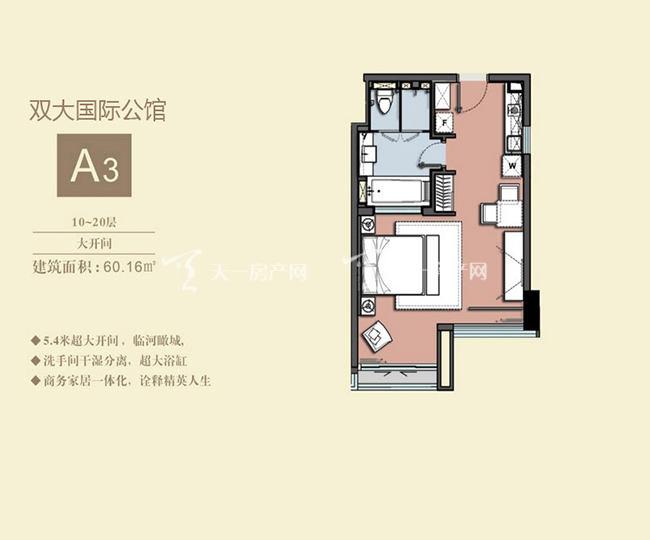 双大国际公馆 A3户型10-20层大开间-60.16㎡.jpg