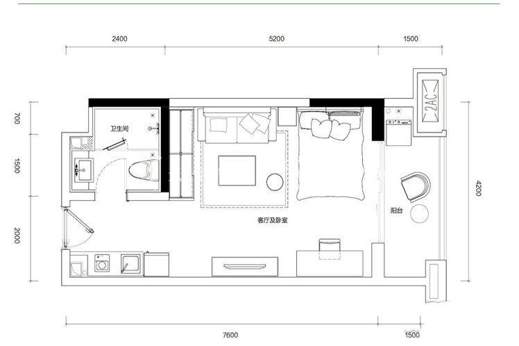 融創西雙版納旅游度假區 G6戶型-1室1廳1衛-45.00㎡.jpg