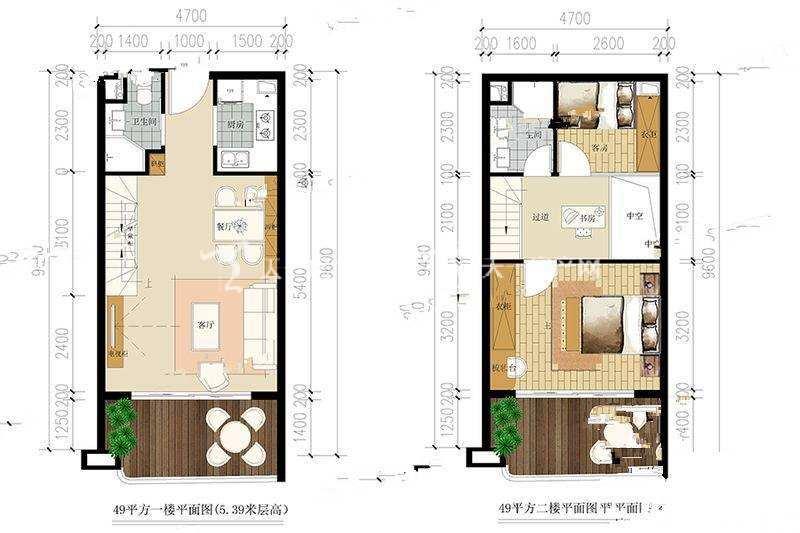 大理洱海福门 3室2厅2卫  49#户型 建筑面积 49㎡.jpg