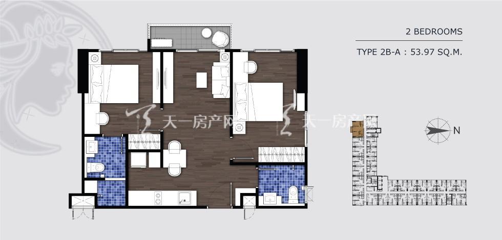 曼谷月盈新苑 2B-A 两室两卫 53.97㎡.jpg