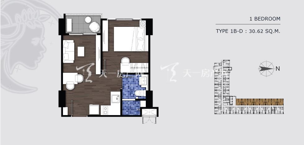 曼谷月盈新苑 1B-D 一室一卫 30.62㎡.jpg