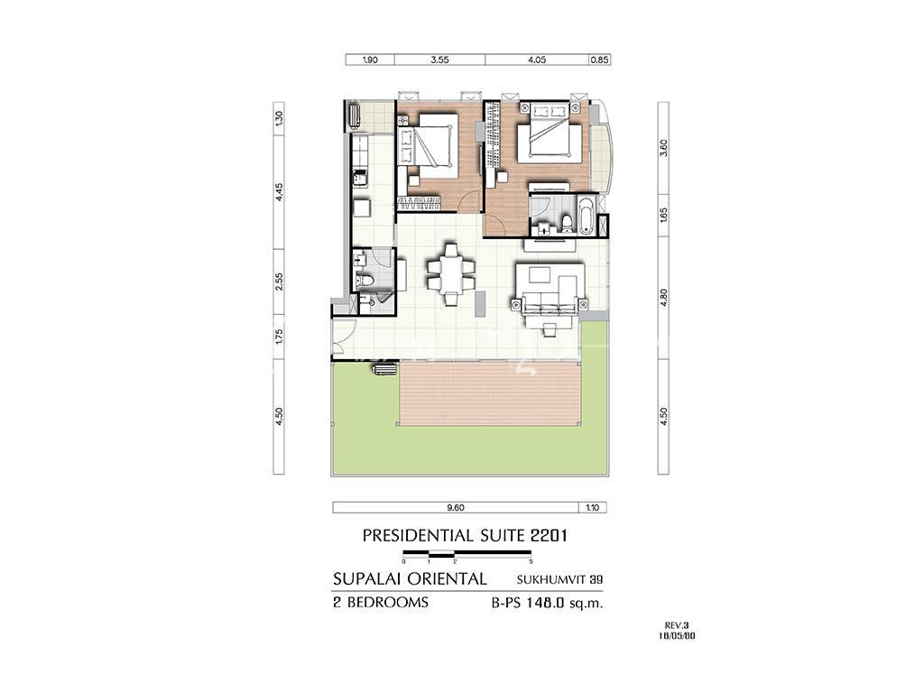 曼谷东方国际公寓 b-ps2201户型-2房2厅-建筑面积148㎡.jpg