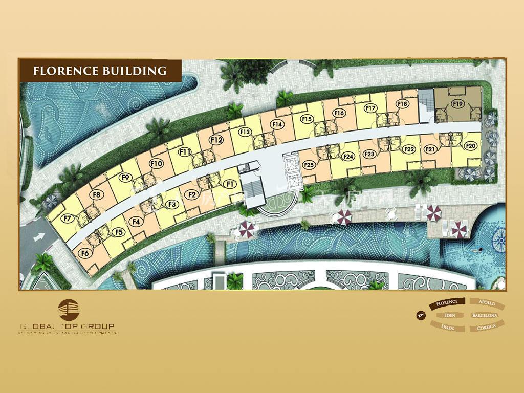 奥林巴斯城市花园 奥林巴斯项目总规图