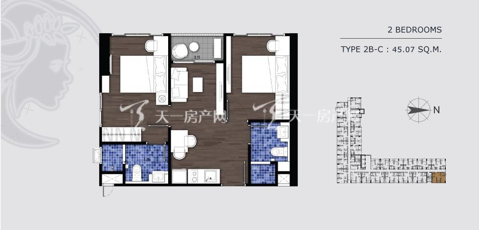 曼谷月盈新苑 2B-C 两室两卫 45.07㎡.jpg