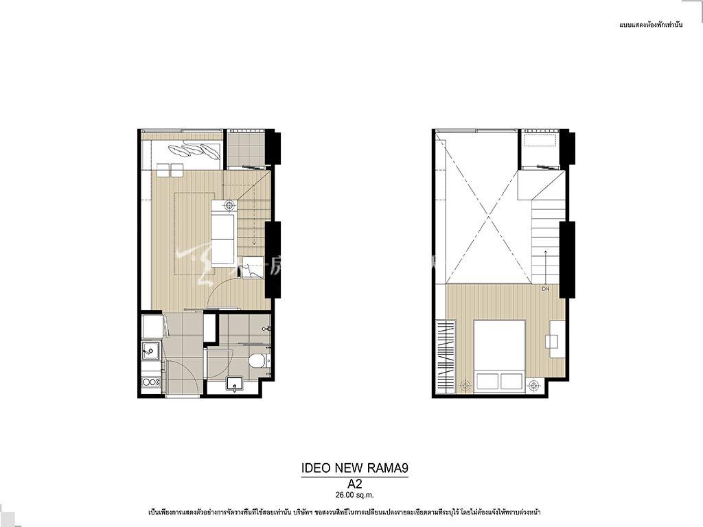 曼谷Ideo New Rama 9 A2户型 26.00㎡.jpg