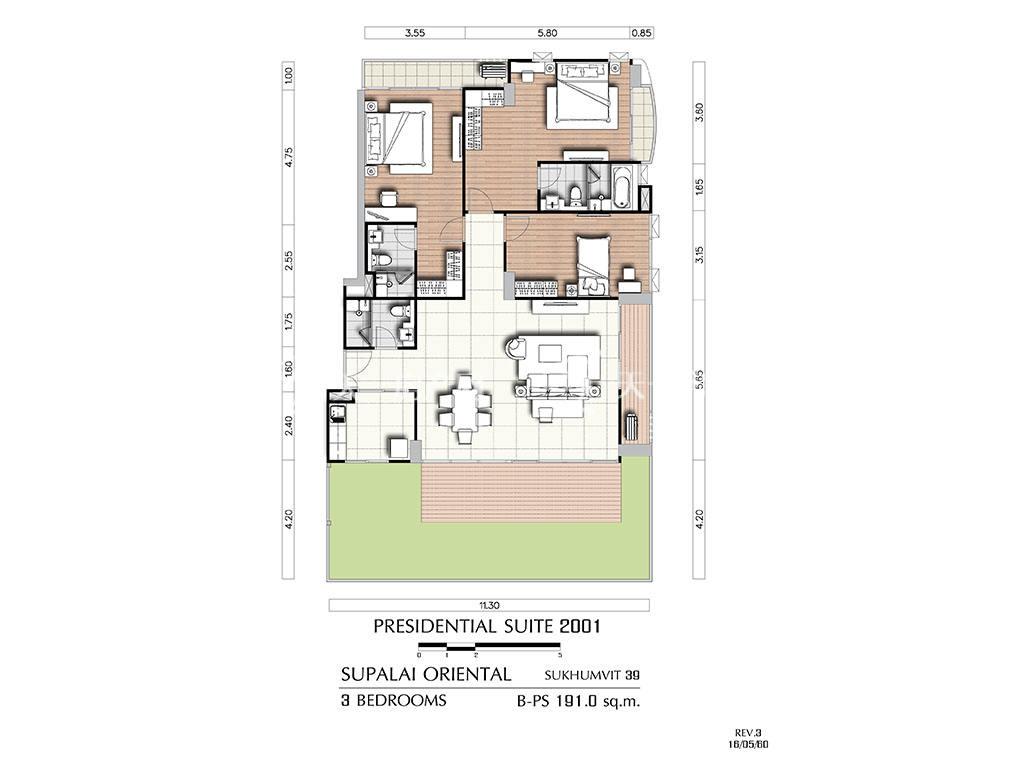 曼谷东方国际公寓 b-ps2001户型-3房2厅-建筑面积191㎡.jpg