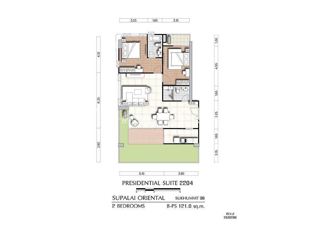 曼谷东方国际公寓 b-ps2204户型-2房2厅-建筑面积121㎡.jpg
