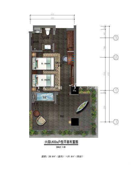 保利凤凰公馆LK02a户型1室0厅0厨1卫50.20㎡.jpg