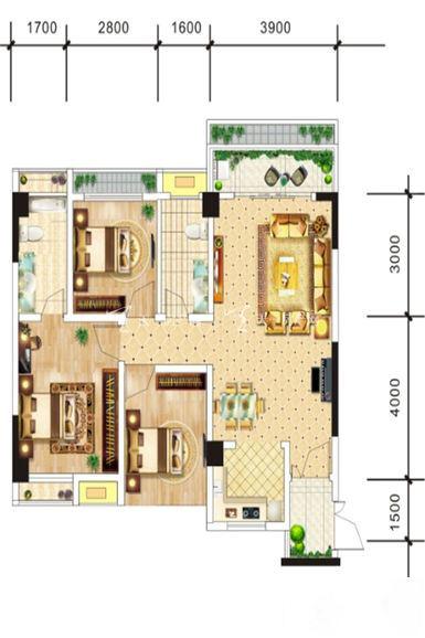 中电海湾国际社区B3户型-3室2厅2卫1厨-81.60㎡.jpg