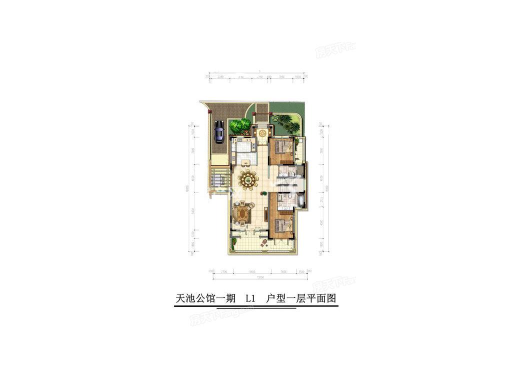 古滇名城天玺别苑L1户型5室3厅7卫1厨建面436㎡1层.jpg