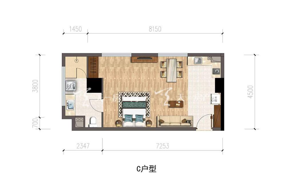 保利公馆-baoli mansionC户型建筑面积约57.86㎡.jpg