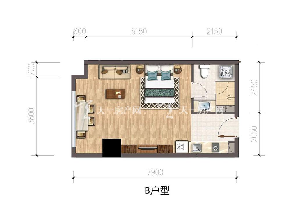 保利公馆-baoli mansionB户型建筑面积约47.18㎡.jpg