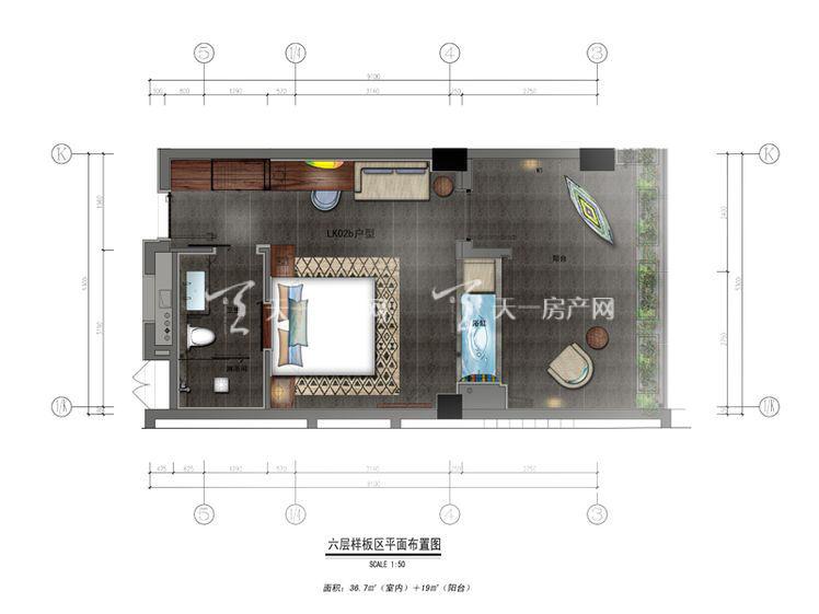 保利凤凰公馆LKO2b户型1室0厅0厨1卫55.70㎡.jpg