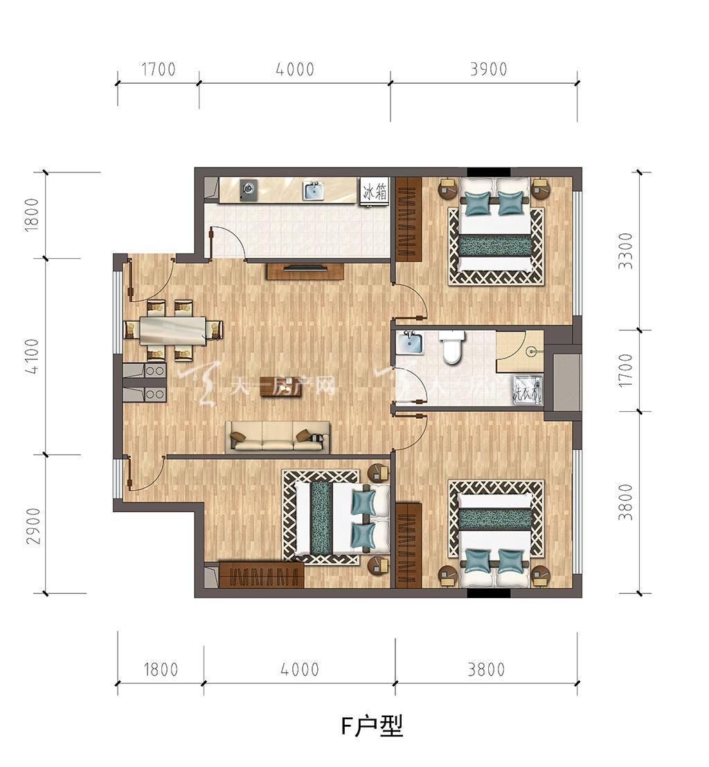 保利公馆-baoli mansionF户型建筑面积约106.jpg