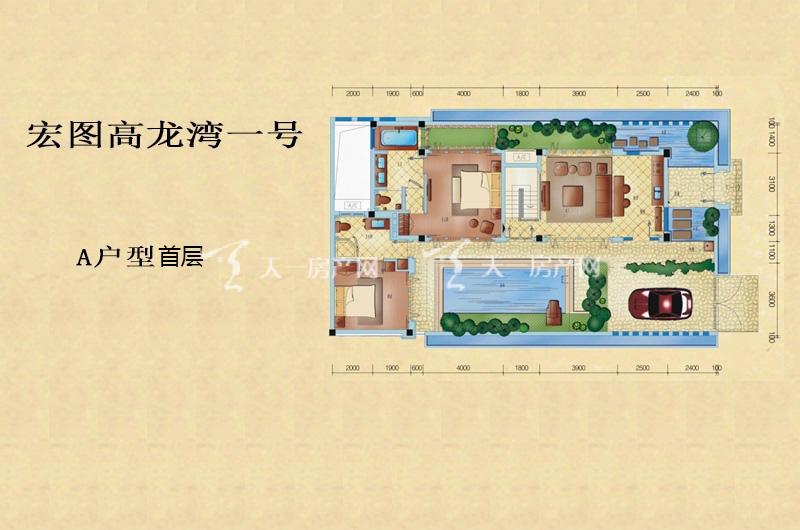 高龙湾1号泰式别墅A户型首层-3房2厅3卫1厨93.01㎡.jpg