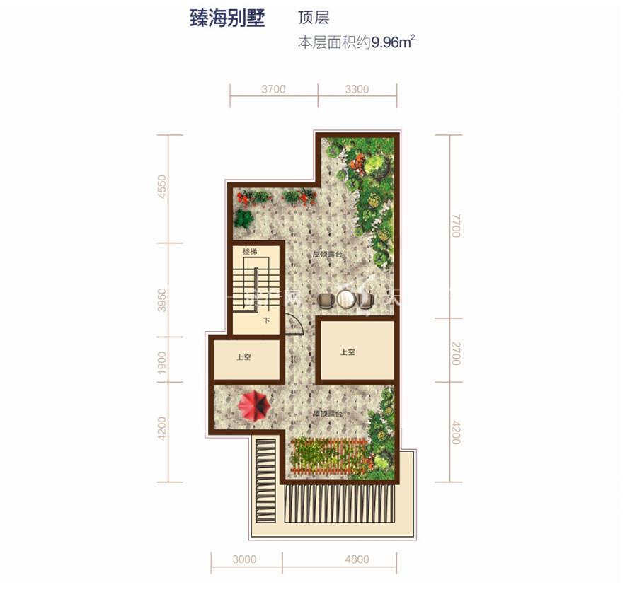 清凤海棠长滩建筑面积96㎡臻海别墅顶层.jpg