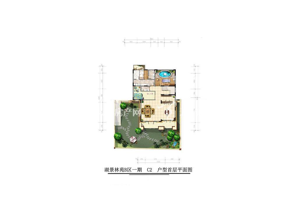 古滇名城湖景林苑B区C2户型5室3厅8卫1厨建面492㎡首层.jpg