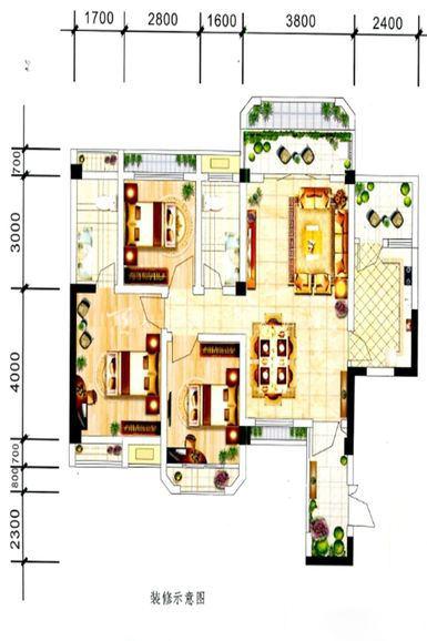中电海湾国际社区A2户型-3室2厅2卫1厨-92.31㎡.jpg