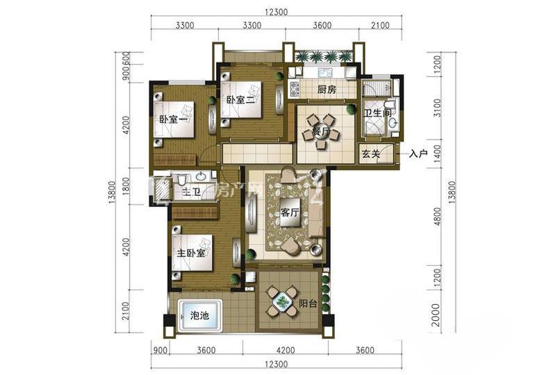 碧桂园珊瑚宫殿A1-3房2厅1厨1卫-127.80㎡.jpg