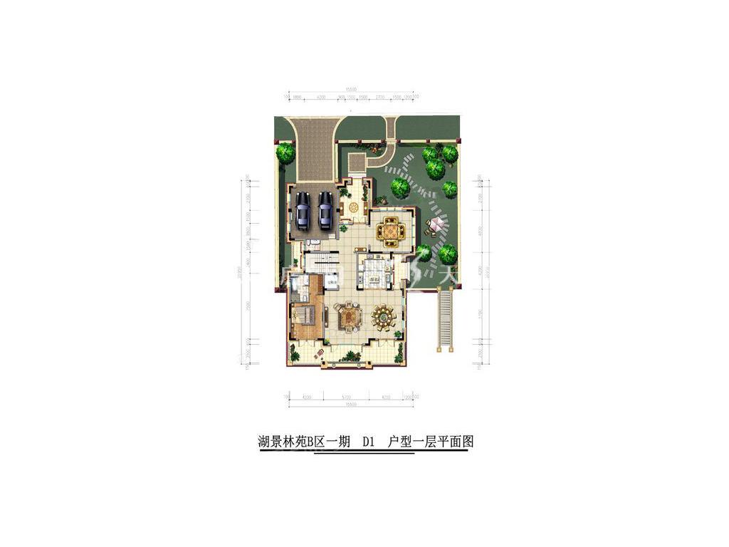 古滇名城湖景林苑A区D1户型5室3厅8卫1厨建面665㎡1层.jpg