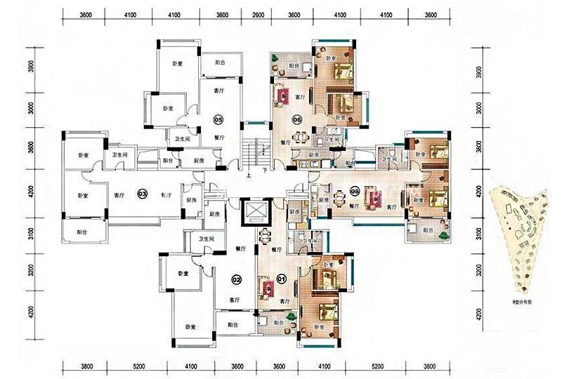 雅居乐清水湾H型1栋-2房2厅1厨1卫-84.21㎡.jpg