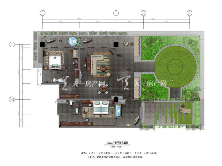 保利凤凰公馆LS02a户型2室2厅0厨2卫340.00㎡.jpg