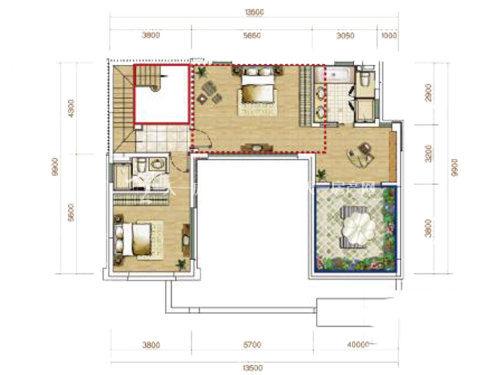 俊发玉龙湾B1户型联排5室2厅4卫1厨建面136㎡2层.jpg