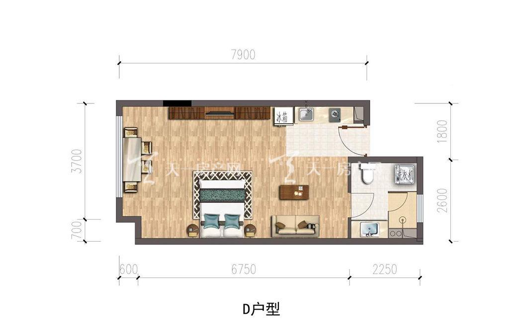 保利公馆-baoli mansionD户型建筑面积约53.00㎡.jpg